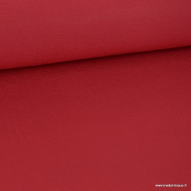 Tissu ultra doux Jersey en viscose Bambou coloris Rouge . x1m