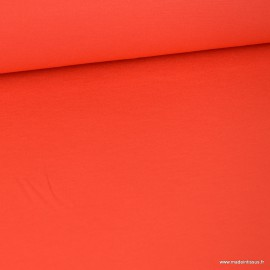 Tissu ultra doux Jersey en viscose Bambou coloris Grenade. x1m