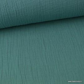 Tissu Double gaze coton Céladon