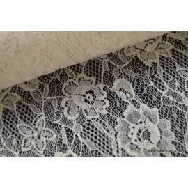 Dentelle fine ivoire robe de mariée dessin 18692 x50cm