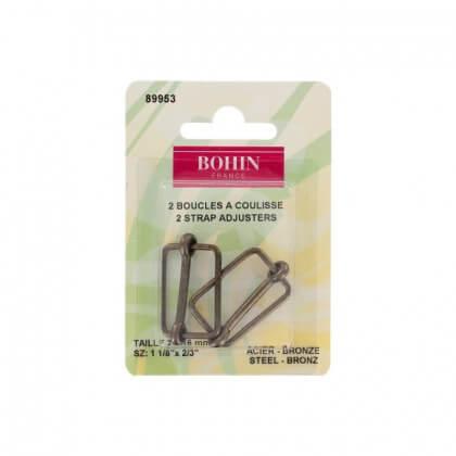 Boucles à coulisses 25 x 16mm finition Bronze Bohin