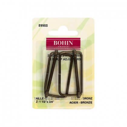 Boucles à coulisses 40 x 20mm finition Bronze Bohin