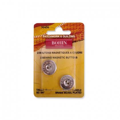 Bouton magnétique à coudre 18mm finition acier Bohin