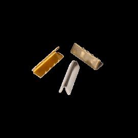 Embout de sangle ou de ceinture 30mm finition acier, doré et argent Bohin