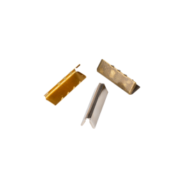 Embout de sangle ou de ceinture 30mm 18mm finition acier, doré et argent Bohin