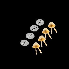 Patin rond pour sac avec rondelle 15mm finition doré - Bohin