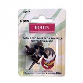 Patin rond pour sac avec rondelle 15mm finition bronze - Bohin