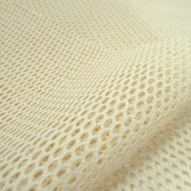 Tissu Filet en coton BIO coloris Naturel