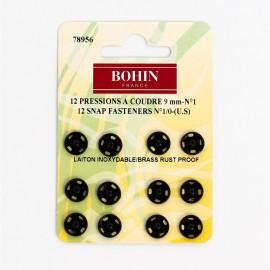 Pressions à coudre 9mm Noir - Bohin