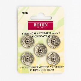 Pressions à coudre 18mm Argenté - Bohin