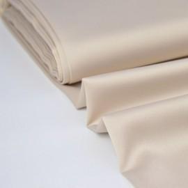 Tissu Satin microfibre fluide beige