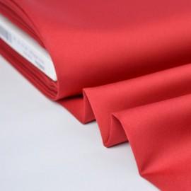 Tissu Satin microfibre fluide rouge hermès
