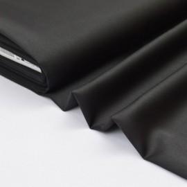 Tissu satin microfibre fluide uni noir .x1m