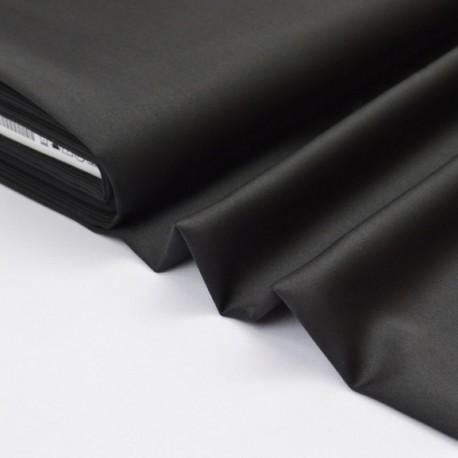 Tissu satin microfibre fluide uni noir x50cm