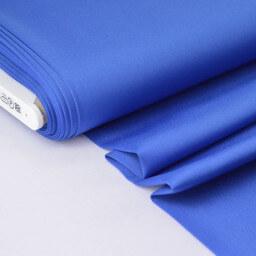 Tissu satin microfibre fluide uni bleu royal x50cm