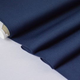 Tissu satin microfibre fluide uni marine .x1m