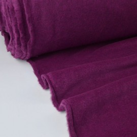 Tissu Polaire Made in France haut de gamme PRUNE