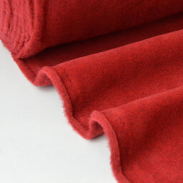 Tissu Polaire Made in France haut de gamme ROUGE CHERRY x50cm