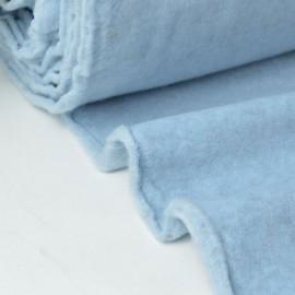 Tissu Polaire Made in France haut de gamme BLEU .x1m