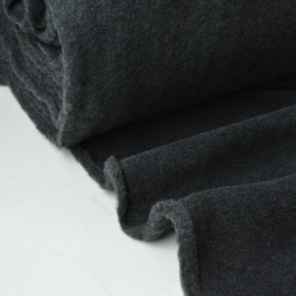 Tissu Polaire Made in France haut de gamme GRIS ANTHRACITE