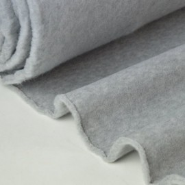 Tissu Polaire Made in France haut de gamme GRIS