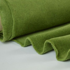 tissu polaire vert Made In France