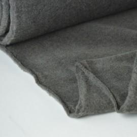 tissu polaire chiné haut de gamme coloris Taupe .x1m