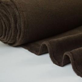 tissu polaire chiné haut de gamme coloris choco .x1m