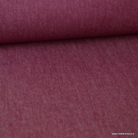 Tissu jean stretch coloris bordeaux x1m