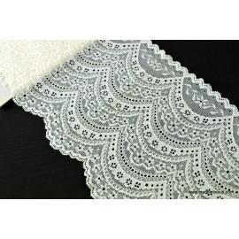 Tissu Galon dentelle ivoire robe de mariée 18cm .