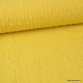 Tissu plumetis voile de coton Moutarde
