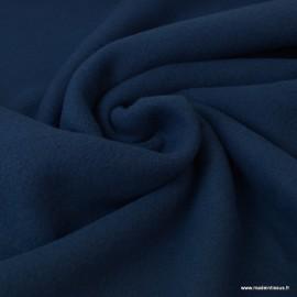 Tissu Polaire BIO coton Bleu Marine