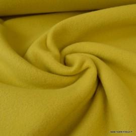 Tissu Polaire BIO coton Moutarde