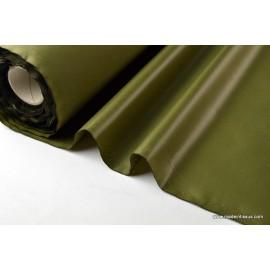 Tissu polyester kaki clair déperlant pour parapluie .