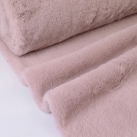 Tissu doudou fausse fourrure Vieux Rose