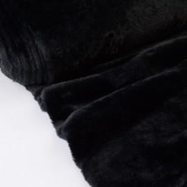 Tissu doudou fausse fourrure Noir