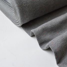 Tissu Jersey molleton fantaisie cosy gris mélangé .x1m