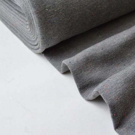 Jersey molleton fantaisie cosy gris mélangé x50cm