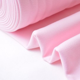 Tissu Sweat envers Minky  rose