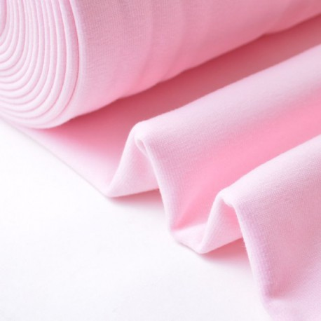 Tissu Sweat envers doudou rose