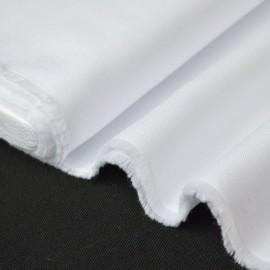 Tissu coton haut de gamme pour chemise oxford blanc