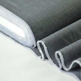 Tissu Fil à Fil coton chemise anthracite pour confection . x1m