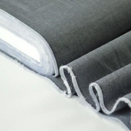 Tissu coton chemise anthracite pour confection