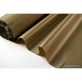 Tissu polyester marron clair déperlant pour parapluie .