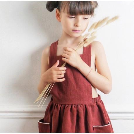 Pochette Patron Robe Tablier Milano By Ikatee Pour Enfants Du 3 Au 12 Ans