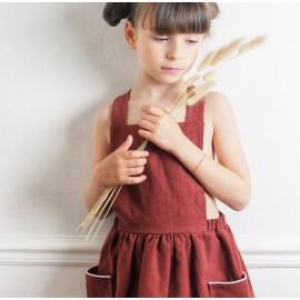 Patron Robe Tablier Milano by Ikatee pour enfants du 3 au 12 ans