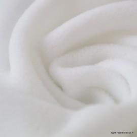 Tissu Micro polaire Blanc - Oeko tex