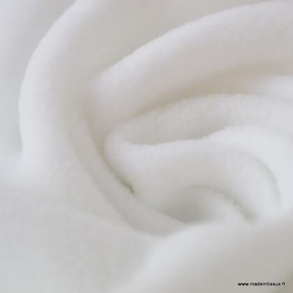 Tissu Micro polaire Blanc
