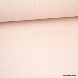 Tissu toile Polycoton Cubex Rose Nude Lurex