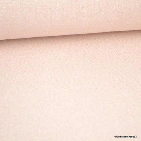 Tissu toile Polycoton Cubex Nude Lurex